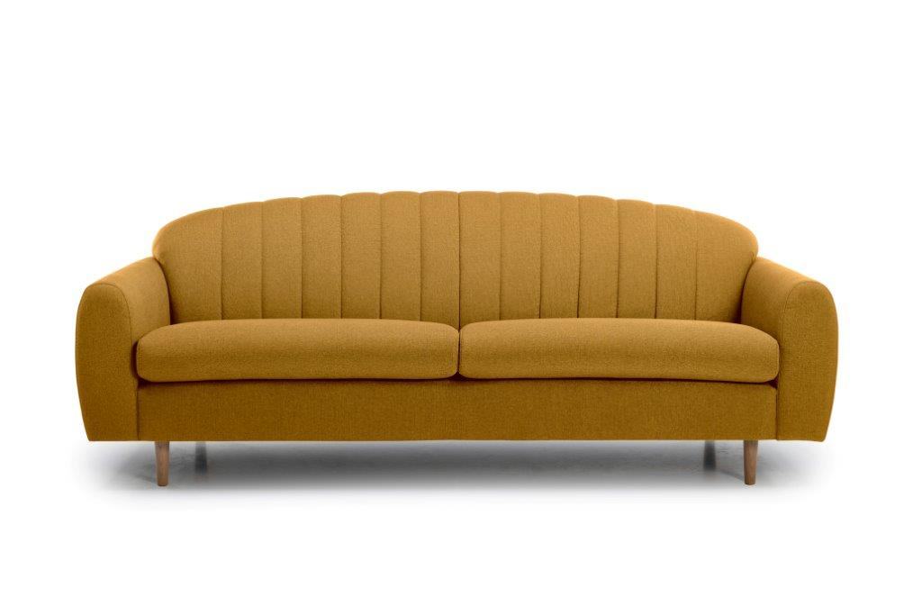 CADILLO 3 seater (FAME 24 gold) front softnord soft nord scandinavian style furniture modern interior design sofa bed chair pouf upholstery