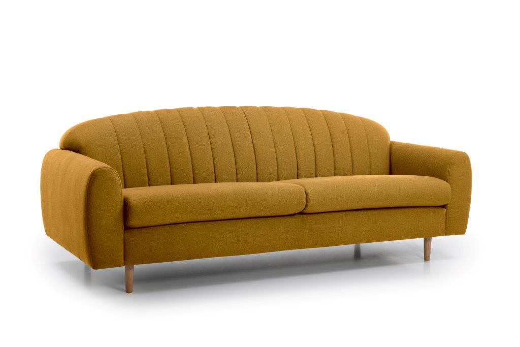 CADILLO 3 seater (FAME 24 gold) side softnord soft nord scandinavian style furniture modern interior design sofa bed chair pouf upholstery