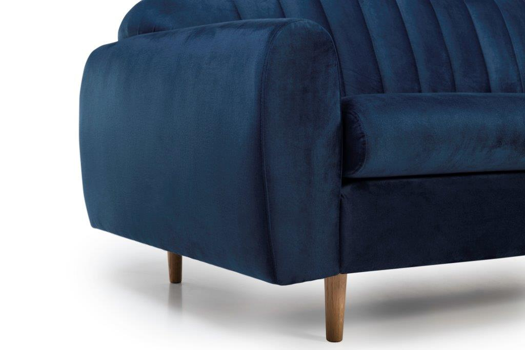 CADILLO 3 seater (MONOLITH 16 blue) arm+leg softnord soft nord scandinavian style furniture modern interior design sofa bed chair pouf upholstery