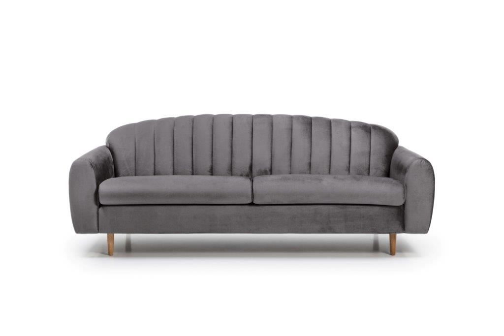 CADILLO 3 seater (MONOLITH 3 grey) front softnord soft nord scandinavian style furniture modern interior design sofa bed chair pouf upholstery