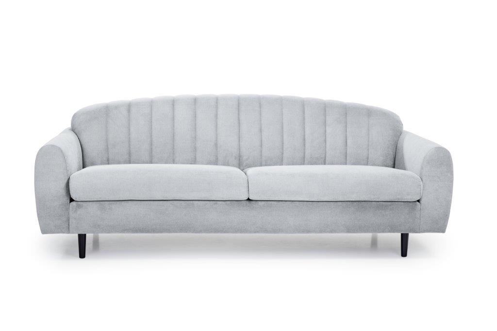 CADILLO 3-seater (ORINOCO 22_1 light silver) front softnord soft nord scandinavian style furniture modern interior design sofa bed chair pouf upholstery