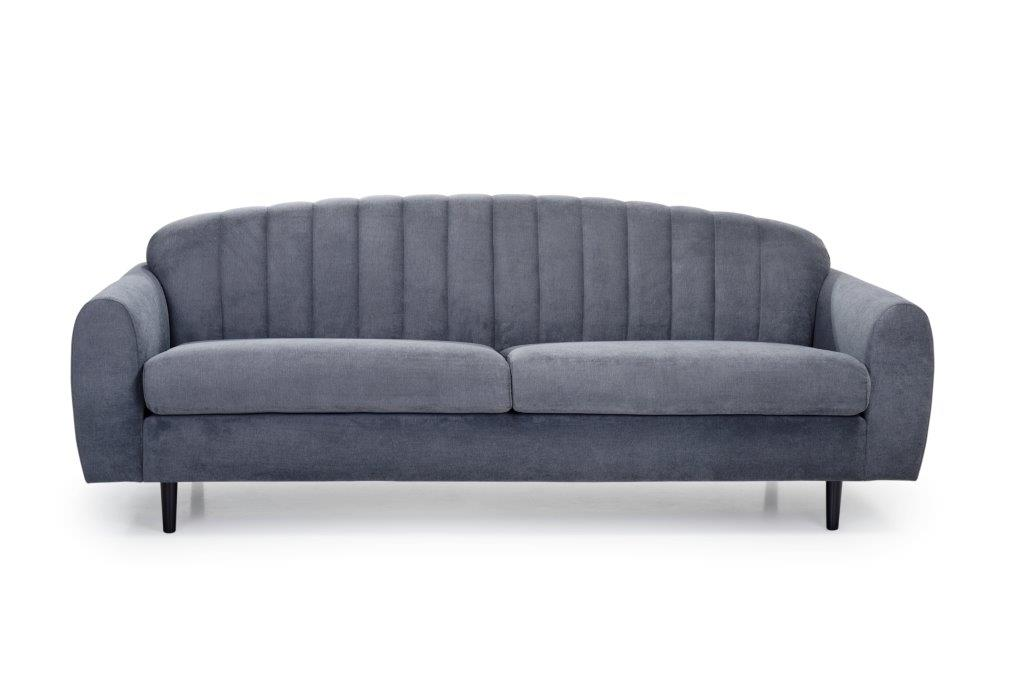 CADILLO 3 seater (ORINOCO 7 antrazite) front softnord soft nord scandinavian style furniture modern interior design sofa bed chair pouf upholstery