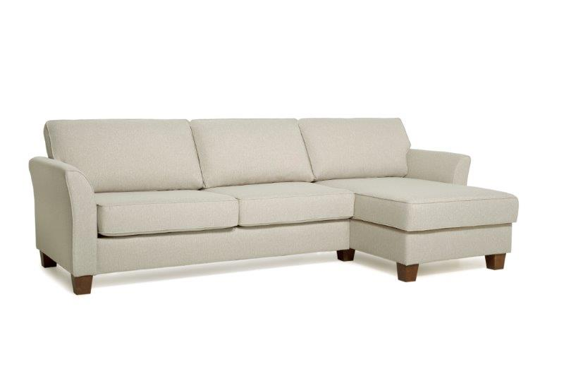 CARLSON chaiselongue ( PLATIN 8 beige) softnord soft nord scandinavian style-furniture interior design sofa bed chair pouf