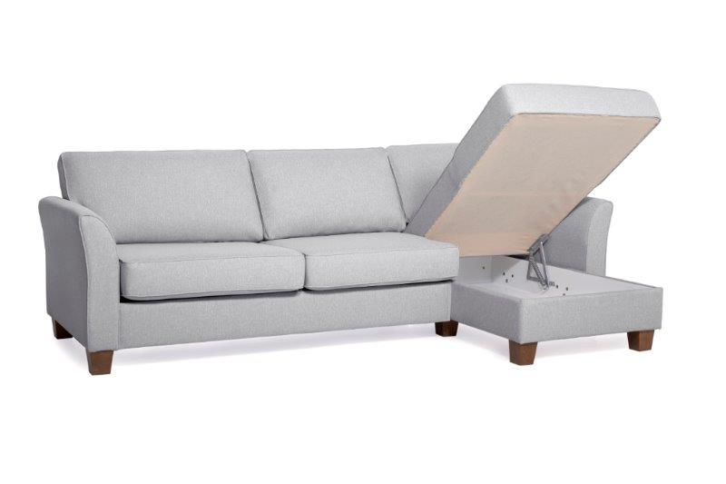CARLSON chaiselongue (TROY 3 grey) softnord soft nord scandinavian style furniture interior-design sofa bed chair pouf