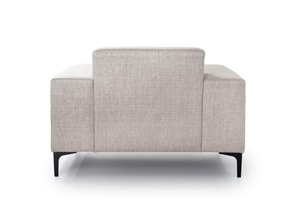 DIVA 1-seater (NIMES 14 latte) back softnord soft nord scandinavian style furniture modern interior design sofa bed chair pouf upholstery
