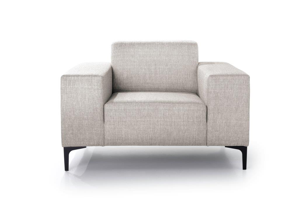 DIVA 1-seater (NIMES 14 latte) front softnord soft nord scandinavian style furniture modern interior design sofa bed chair pouf upholstery