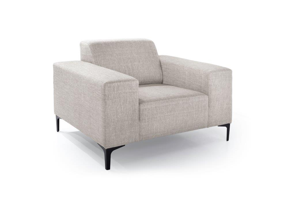 DIVA 1-seater (NIMES 14 latte) side softnord soft nord scandinavian style furniture modern interior design sofa bed chair pouf upholstery