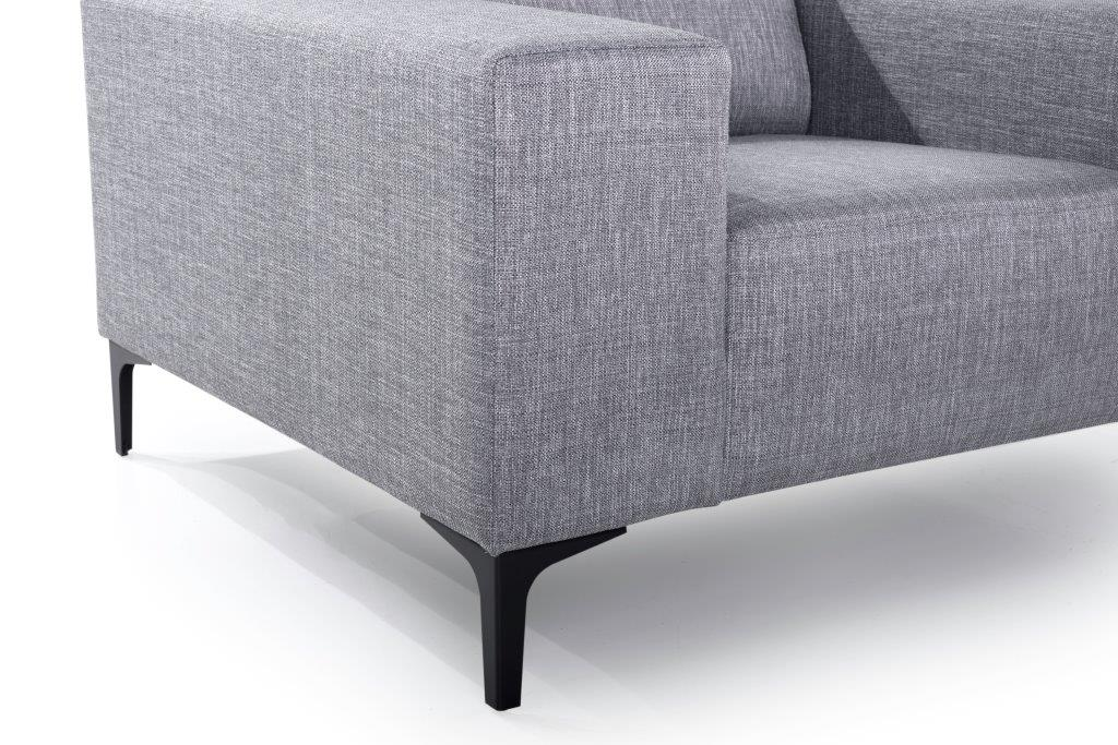 DIVA 1-seater (NIMES 22 silver) arm+leg softnord soft nord scandinavian style furniture modern interior design sofa bed chair pouf upholstery