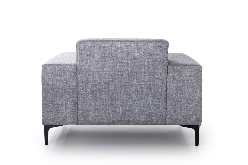DIVA 1-seater (NIMES 22 silver) back softnord soft nord scandinavian style furniture modern interior design sofa bed chair pouf upholstery