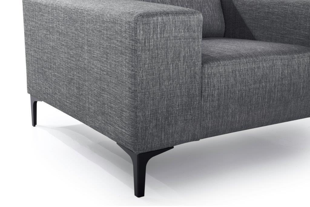 DIVA 1-seater (NIMES 7 antrazite) arm+leg softnord soft nord scandinavian style furniture modern interior design sofa bed chair pouf upholstery