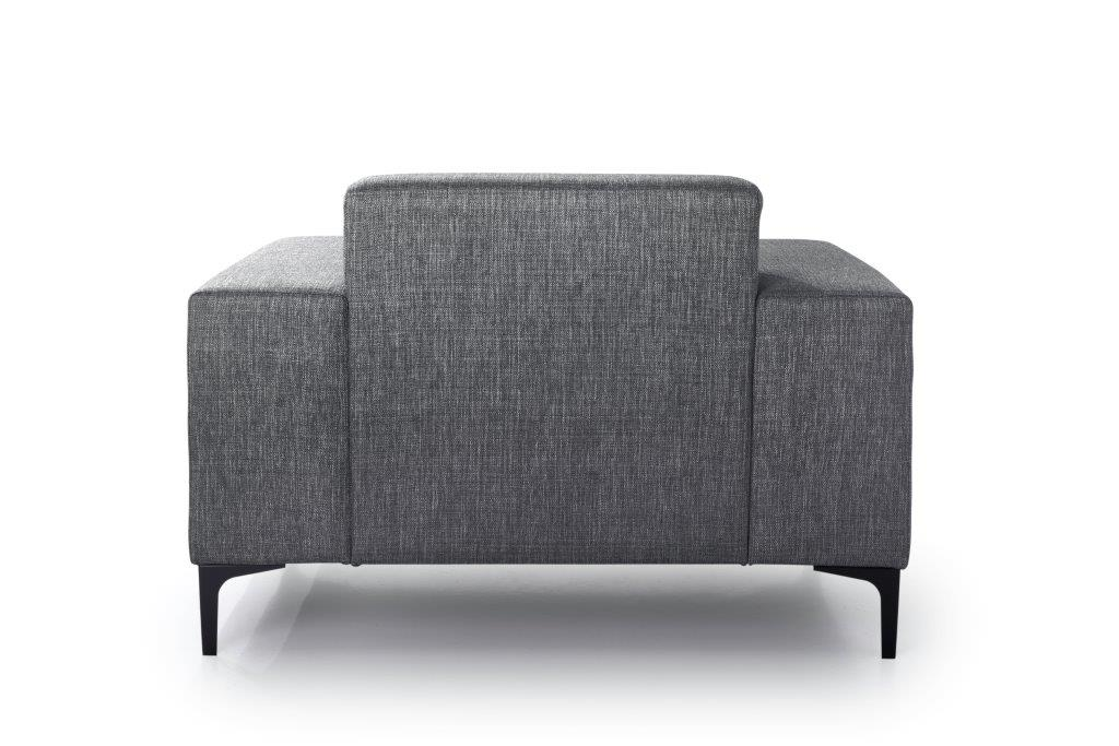 DIVA 1-seater (NIMES 7 antrazite) back softnord soft nord scandinavian style furniture modern interior design sofa bed chair pouf upholstery
