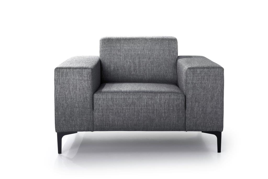 DIVA 1-seater (NIMES 7 antrazite) front softnord soft nord scandinavian style furniture modern interior design sofa bed chair pouf upholstery