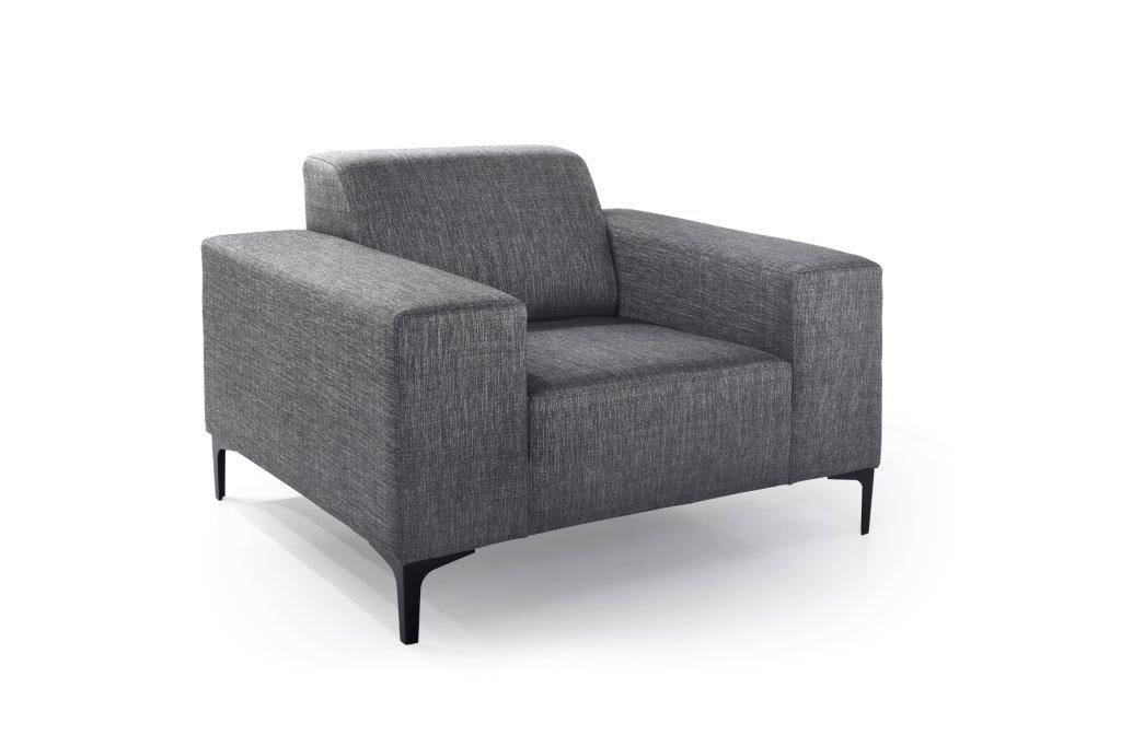 DIVA 1-seater (NIMES 7 antrazite) side softnord soft nord scandinavian style furniture modern interior design sofa bed chair pouf upholstery