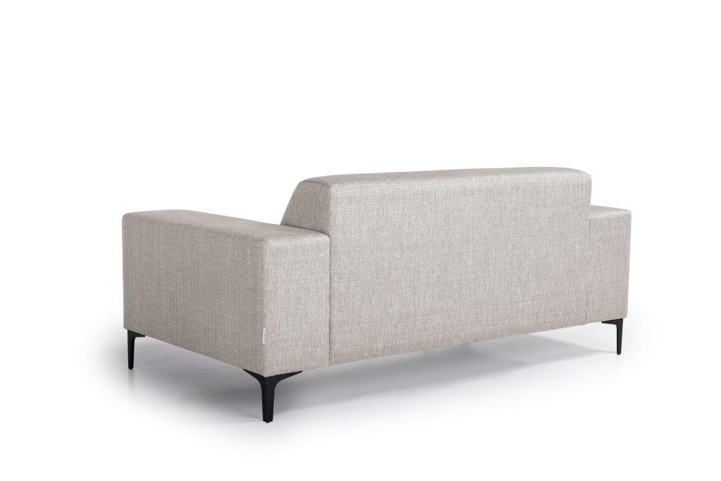 DIVA 2-seater (NIMES 14 latte) back softnord soft nord scandinavian style furniture modern interior design sofa bed chair pouf upholstery