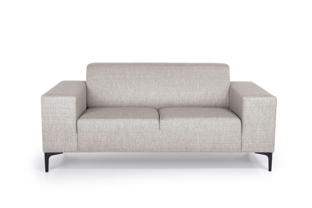 DIVA 2-seater (NIMES 14 latte) front softnord soft nord scandinavian style furniture modern interior design sofa bed chair pouf upholstery