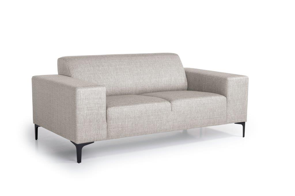 DIVA 2-seater (NIMES 14 latte) side softnord soft nord scandinavian style furniture modern interior design sofa bed chair pouf upholstery