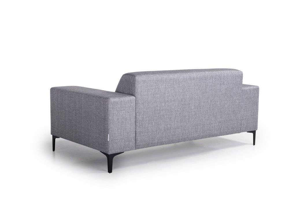 DIVA 2-seater (NIMES 22 silver) back softnord soft nord scandinavian style furniture modern interior design sofa bed chair pouf upholstery