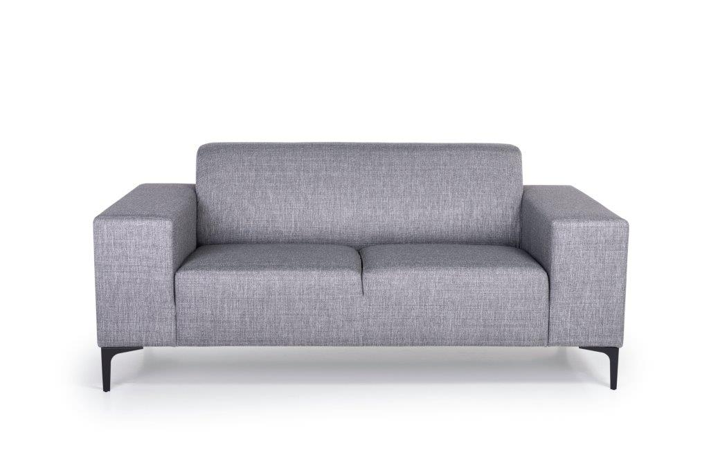 DIVA 2-seater (NIMES 22 silver) front softnord soft nord scandinavian style furniture modern interior design sofa bed chair pouf upholstery
