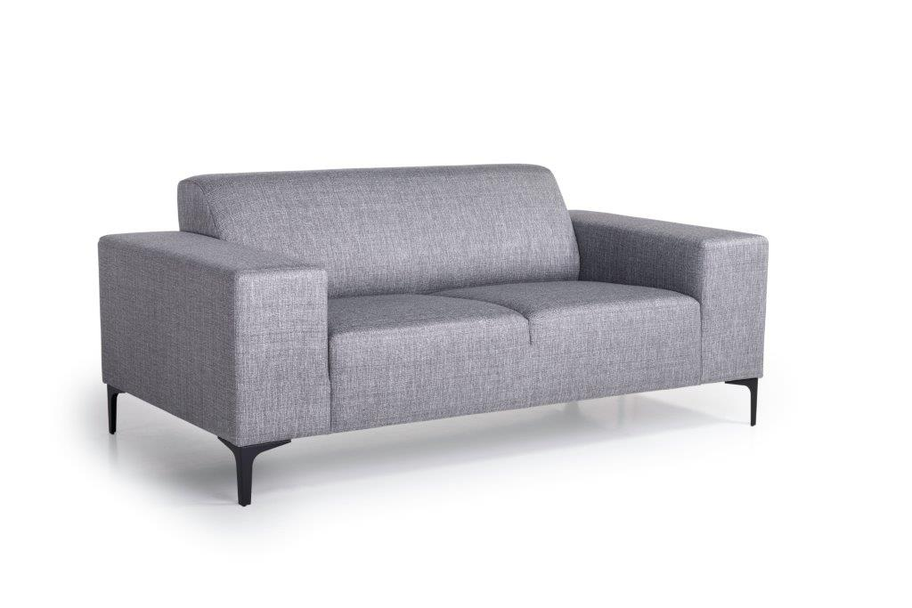 DIVA 2-seater (NIMES 22 silver) side softnord soft nord scandinavian style furniture modern interior design sofa bed chair pouf upholstery