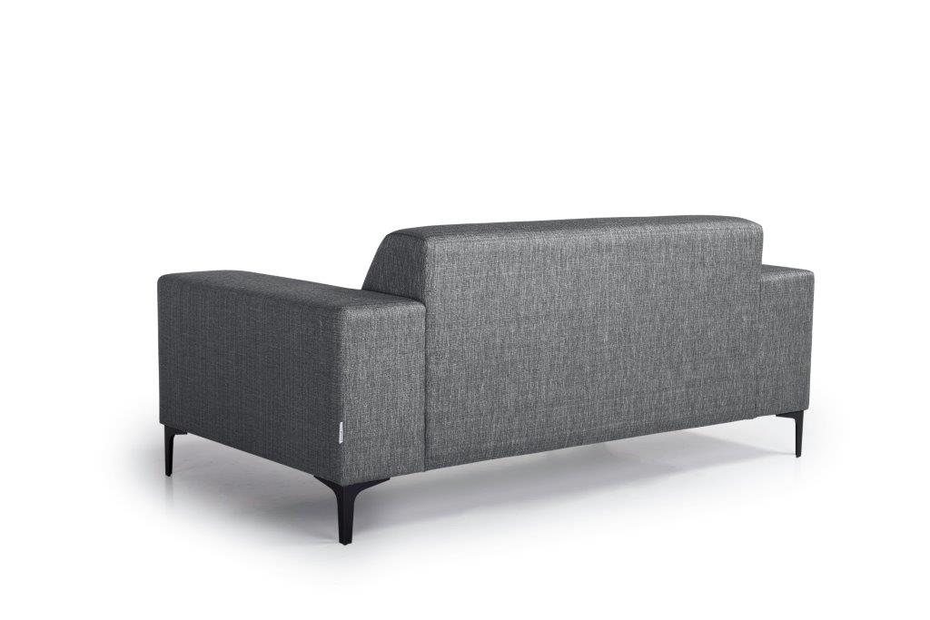 DIVA 2-seater (NIMES 7 antrazite) back softnord soft nord scandinavian style furniture modern interior design sofa bed chair pouf upholstery