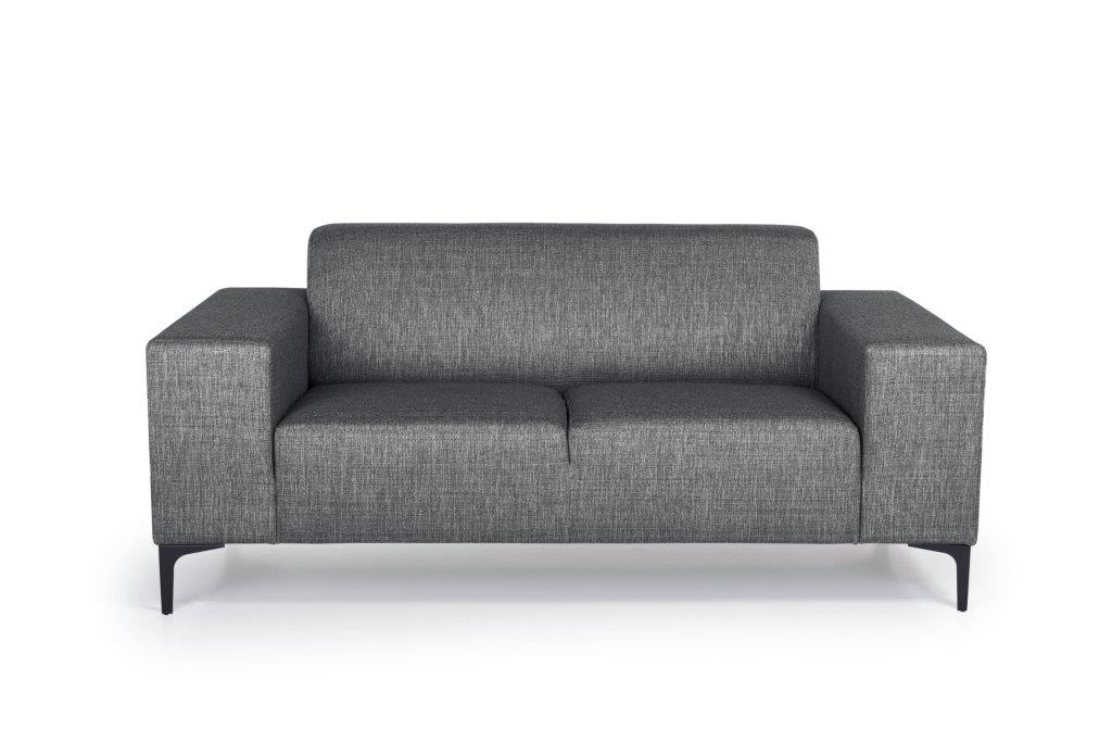 DIVA 2-seater (NIMES 7 antrazite) front softnord soft nord scandinavian style furniture modern interior design sofa bed chair pouf upholstery