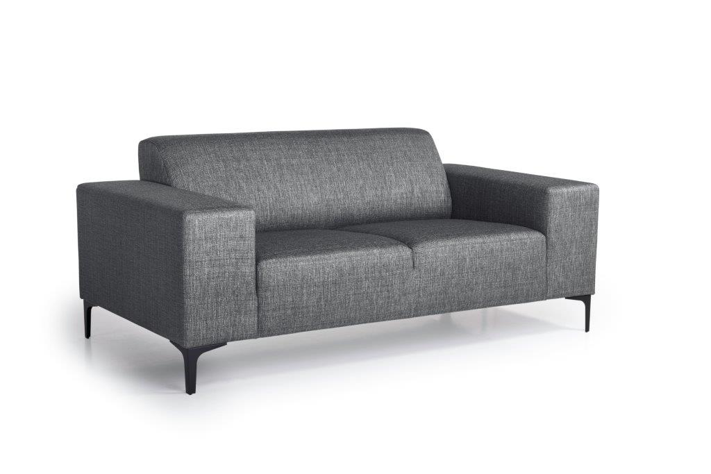 DIVA 2-seater (NIMES 7 antrazite) side softnord soft nord scandinavian style furniture modern interior design sofa bed chair pouf upholstery