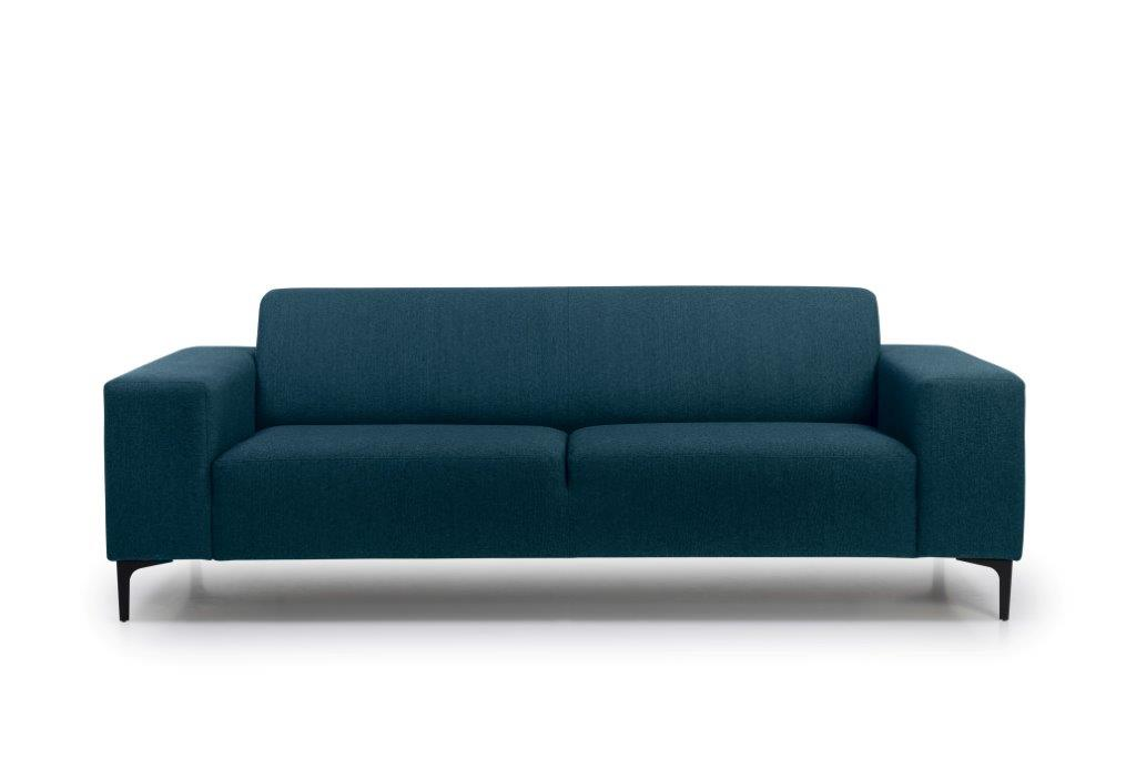 DIVA 3 seater (FAME 16.2 dark blue) front softnord soft nord scandinavian style furniture modern interior design sofa bed chair pouf upholstery