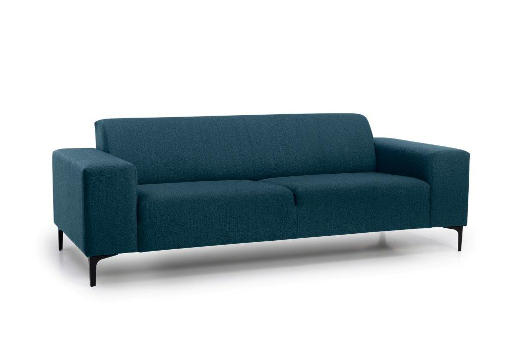 DIVA 3 seater (FAME 16.2 dark blue) side softnord soft nord scandinavian style furniture modern interior design sofa bed chair pouf upholstery