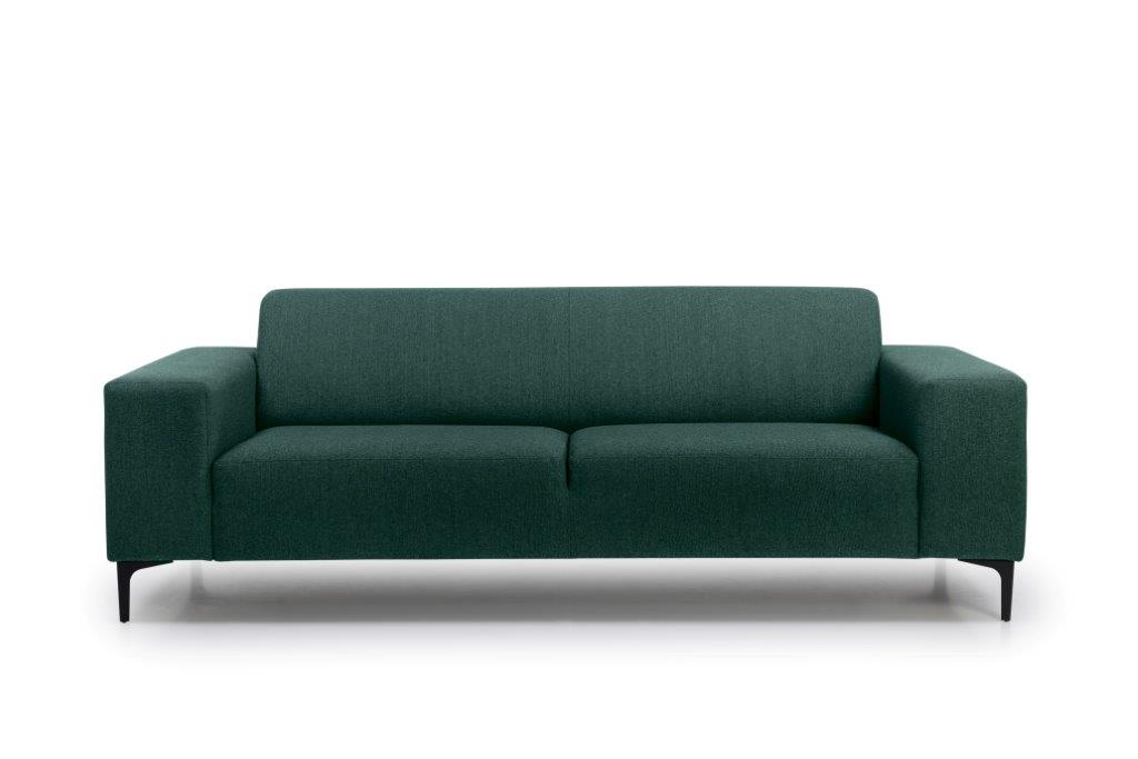 DIVA 3 seater (FAME 17 green) front softnord soft nord scandinavian style furniture modern interior design sofa bed chair pouf upholstery
