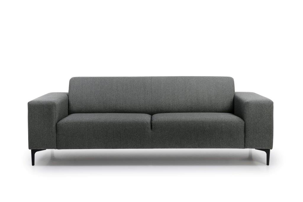 DIVA 3 seater (FAME 3.1 light grey) front softnord soft nord scandinavian style furniture modern interior design sofa bed chair pouf upholstery