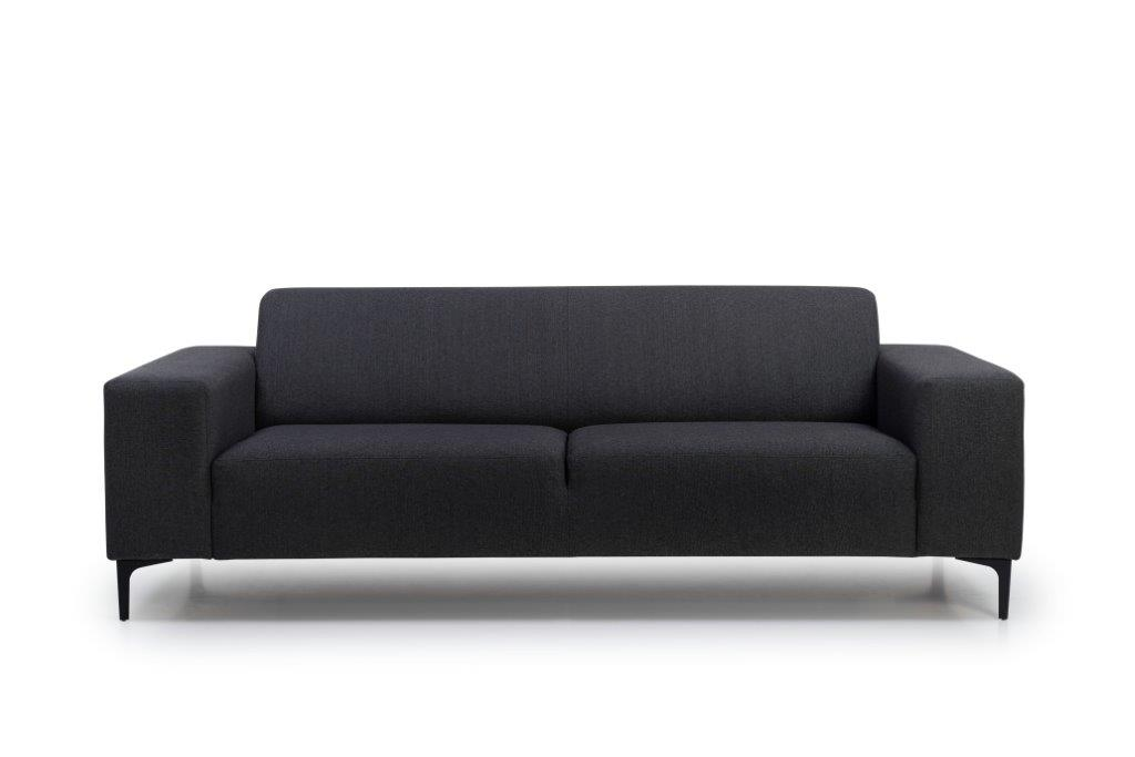 DIVA 3 seater (FAME 7 antrazite) front softnord soft nord scandinavian style furniture modern interior design sofa bed chair pouf upholstery