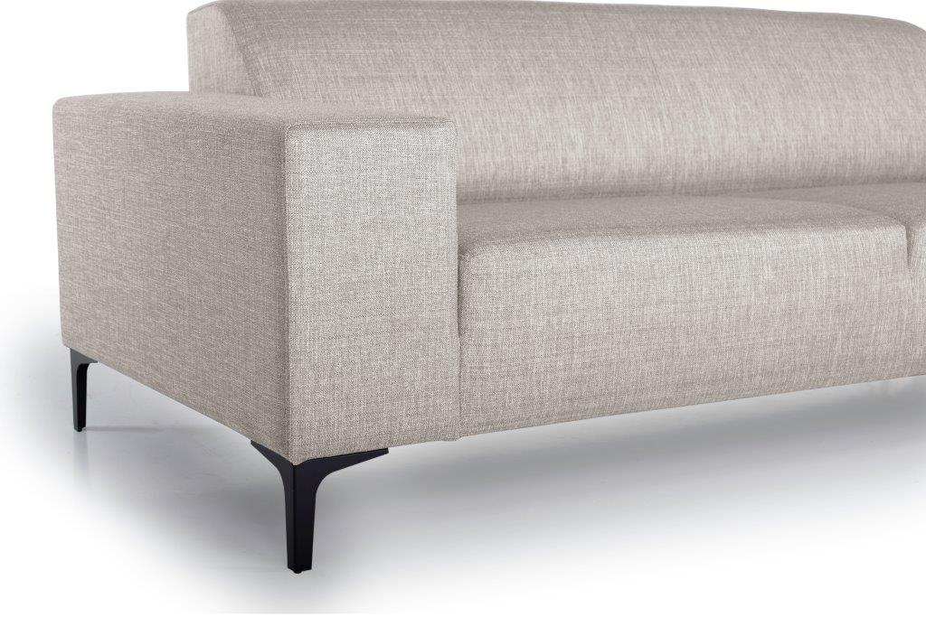 DIVA 3-seater (NIMES 14 latte) arm+leg softnord soft nord scandinavian style furniture modern interior design sofa bed chair pouf upholstery
