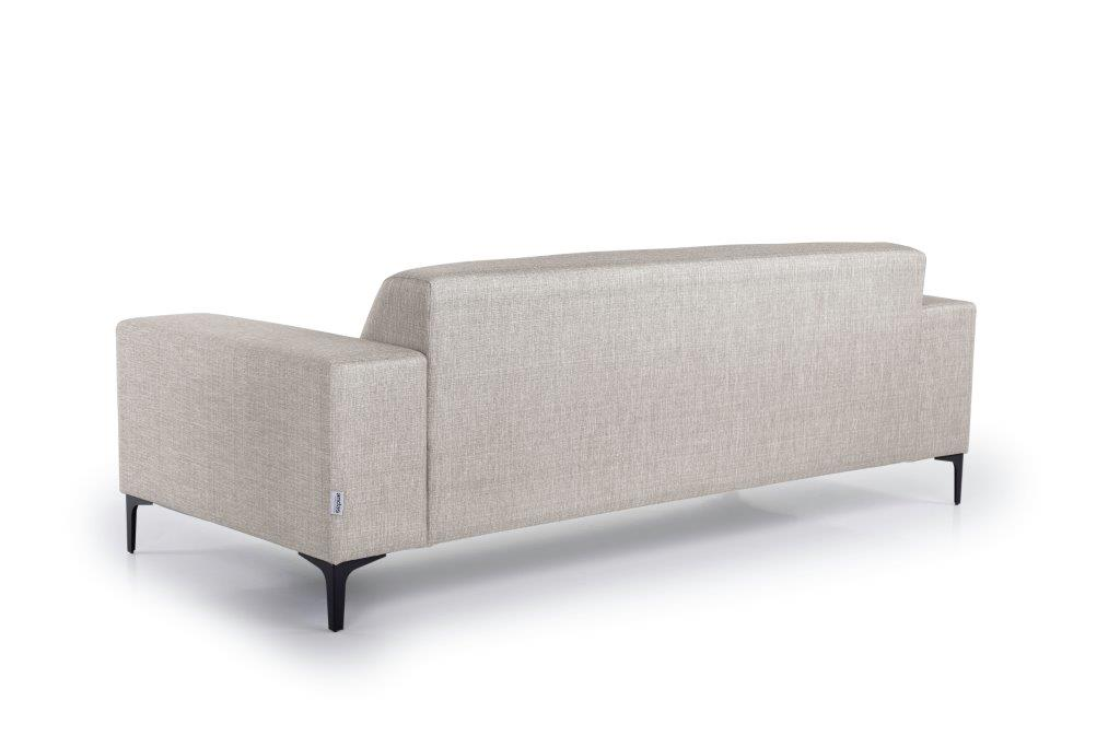 DIVA 3-seater (NIMES 14 latte) back softnord soft nord scandinavian style furniture modern interior design sofa bed chair pouf upholstery
