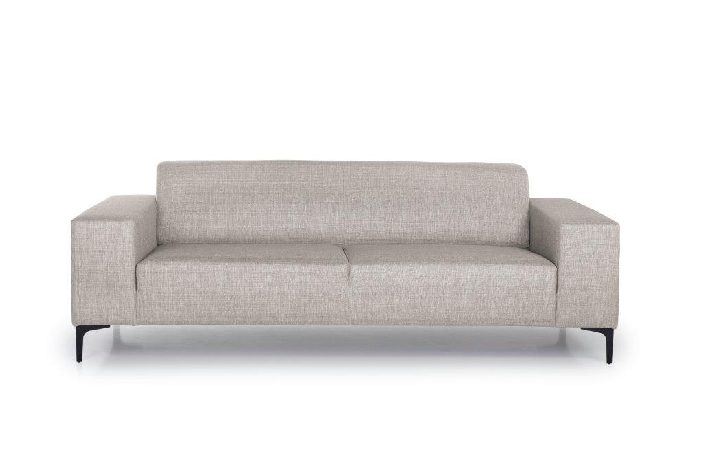 DIVA 3-seater (NIMES 14 latte) front softnord soft nord scandinavian style furniture modern interior design sofa bed chair pouf upholstery