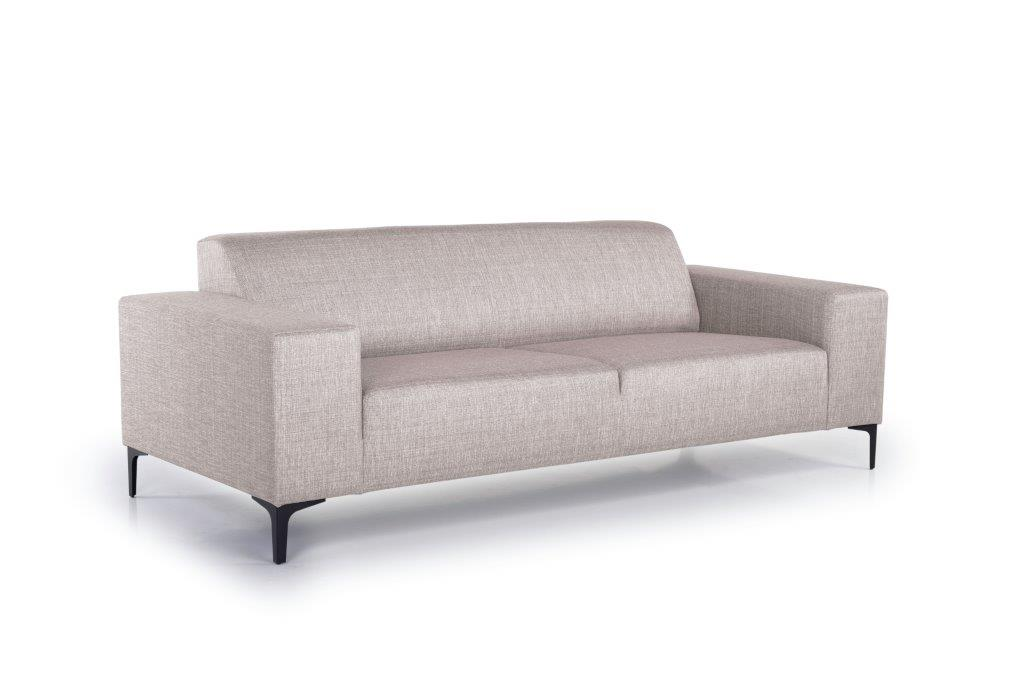 DIVA 3-seater (NIMES 14 latte) side softnord soft nord scandinavian style furniture modern interior design sofa bed chair pouf upholstery