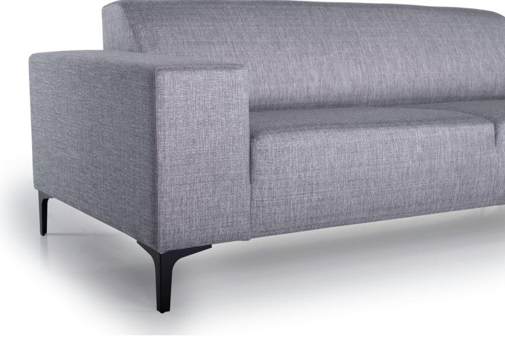 DIVA 3-seater (NIMES 22 silver) arm+leg softnord soft nord scandinavian style furniture modern interior design sofa bed chair pouf upholstery