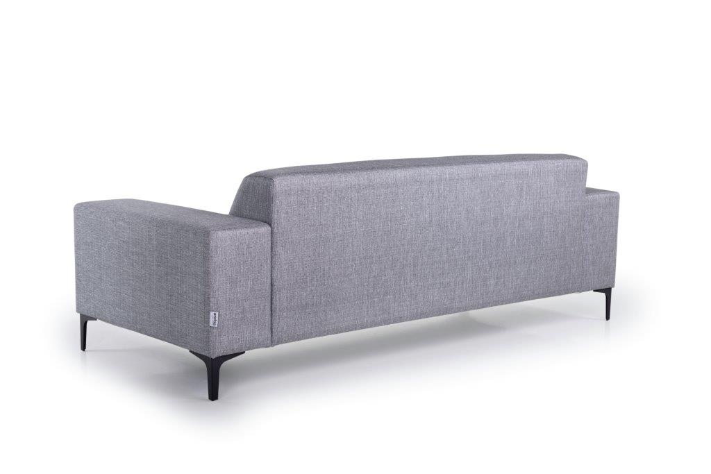 DIVA 3-seater (NIMES 22 silver) back softnord soft nord scandinavian style furniture modern interior design sofa bed chair pouf upholstery