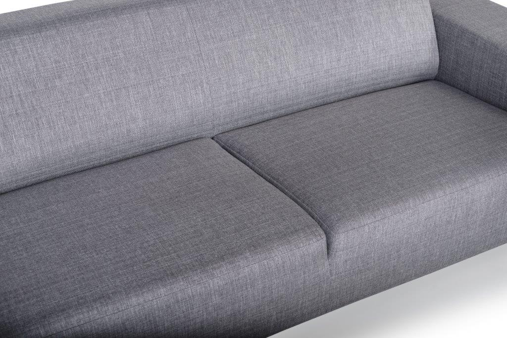 DIVA 3-seater (NIMES 22 silver) detail softnord soft nord scandinavian style furniture modern interior design sofa bed chair pouf upholstery