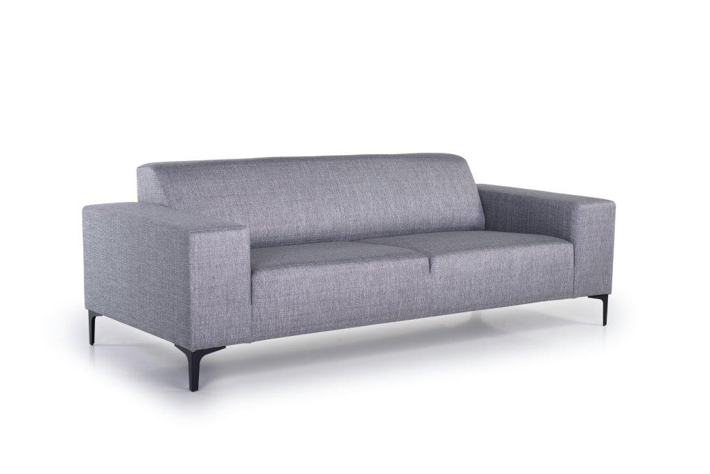DIVA 3-seater (NIMES 22 silver) side softnord soft nord scandinavian style furniture modern interior design sofa bed chair pouf upholstery