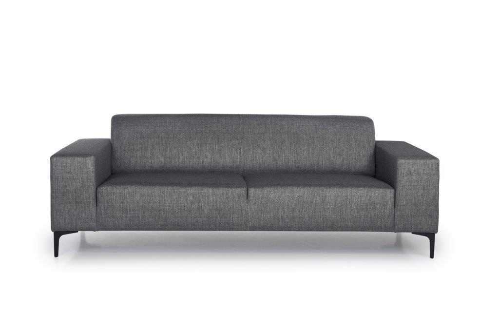 DIVA 3-seater (NIMES 7 antrazite) front softnord soft nord scandinavian style furniture modern interior design sofa bed chair pouf upholstery