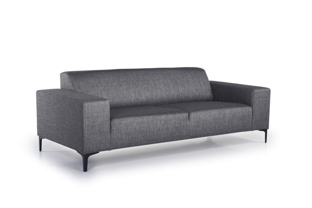 DIVA 3-seater (NIMES 7 antrazite) side softnord soft nord scandinavian style furniture modern interior design sofa bed chair pouf upholstery