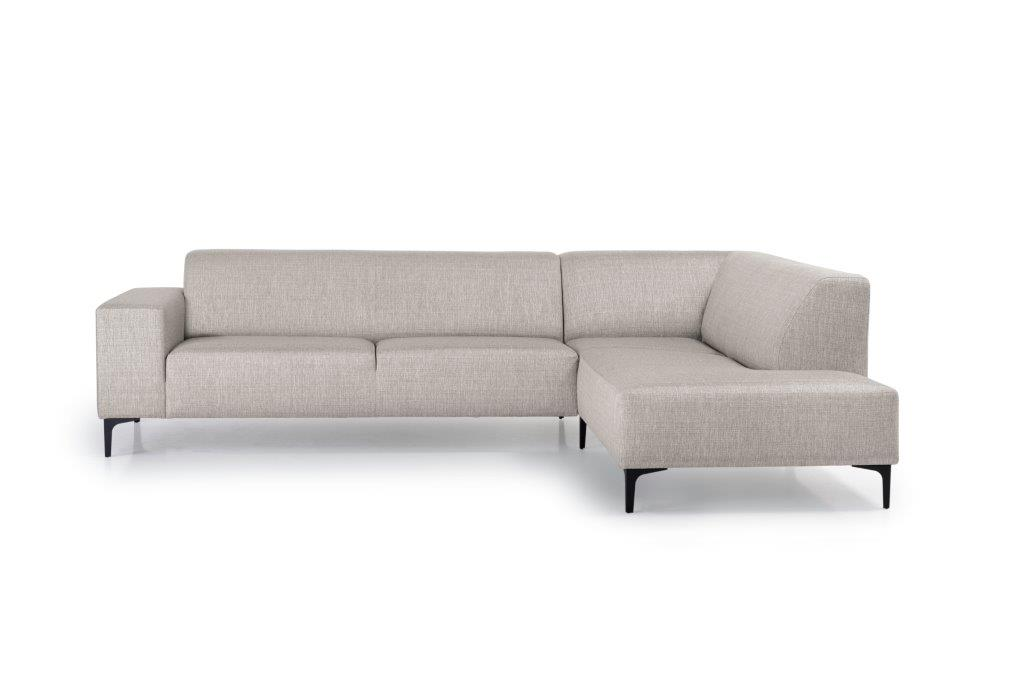DIVA open corner (NIMES 14 latte) front softnord soft nord scandinavian style furniture modern interior design sofa bed chair pouf upholstery