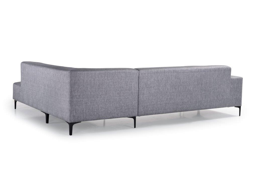 DIVA open corner (NIMES 22 silver) back softnord soft nord scandinavian style furniture modern interior design sofa bed chair pouf upholstery
