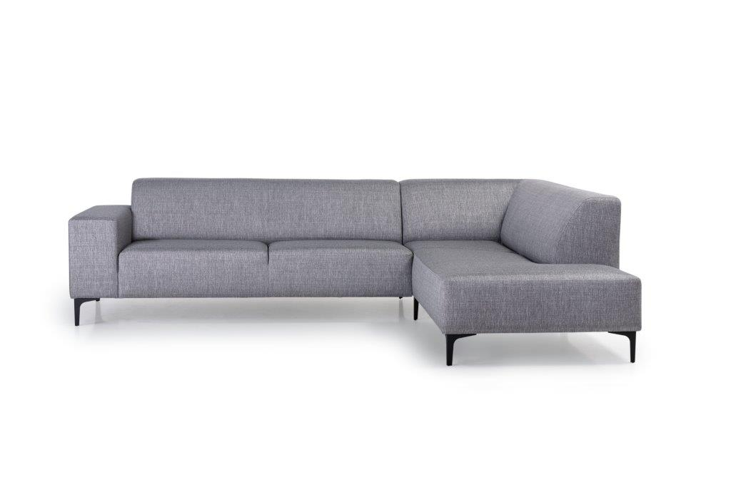 DIVA open corner (NIMES 22 silver) front softnord soft nord scandinavian style furniture modern interior design sofa bed chair pouf upholstery