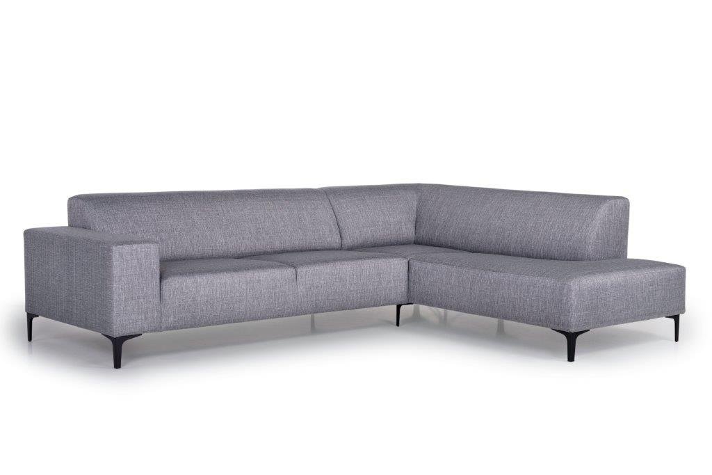 DIVA open corner (NIMES 22 silver) side softnord soft nord scandinavian style furniture modern interior design sofa bed chair pouf upholstery