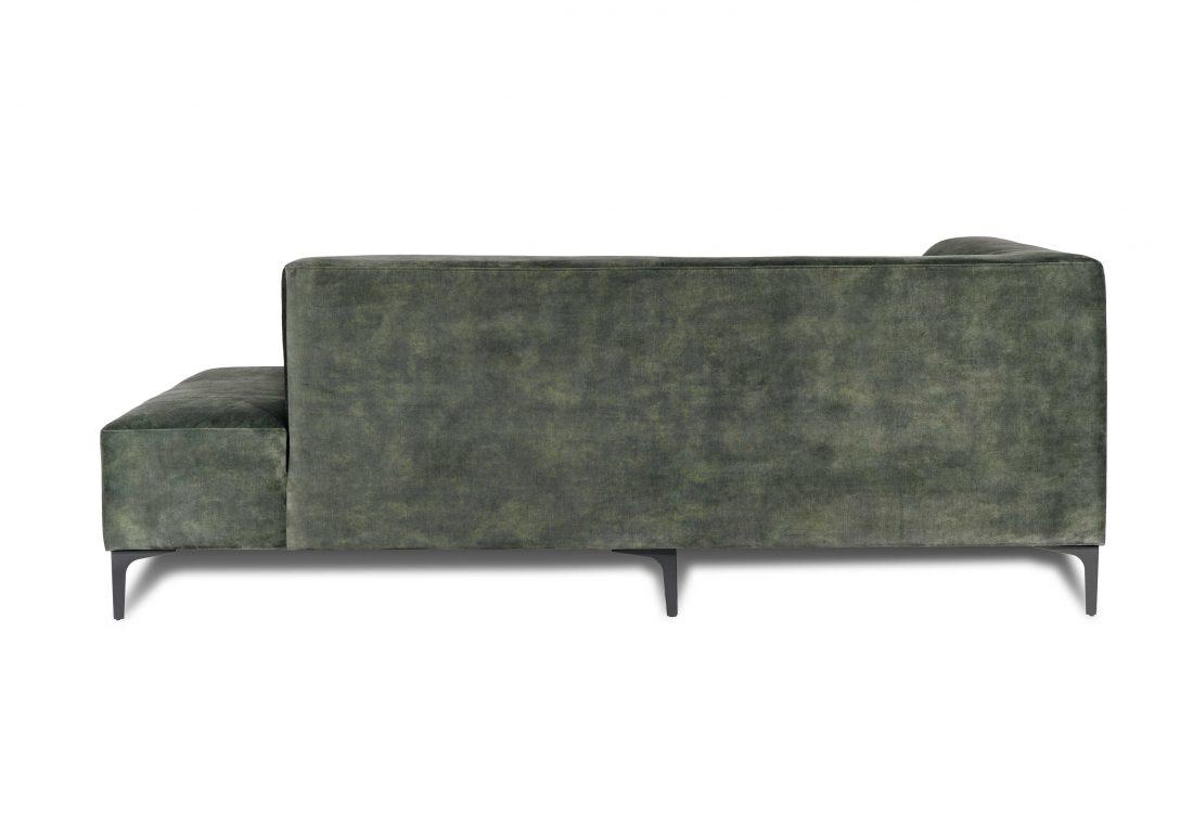 DIVA open corner part (full fabric) (VOLVO 17 green) back