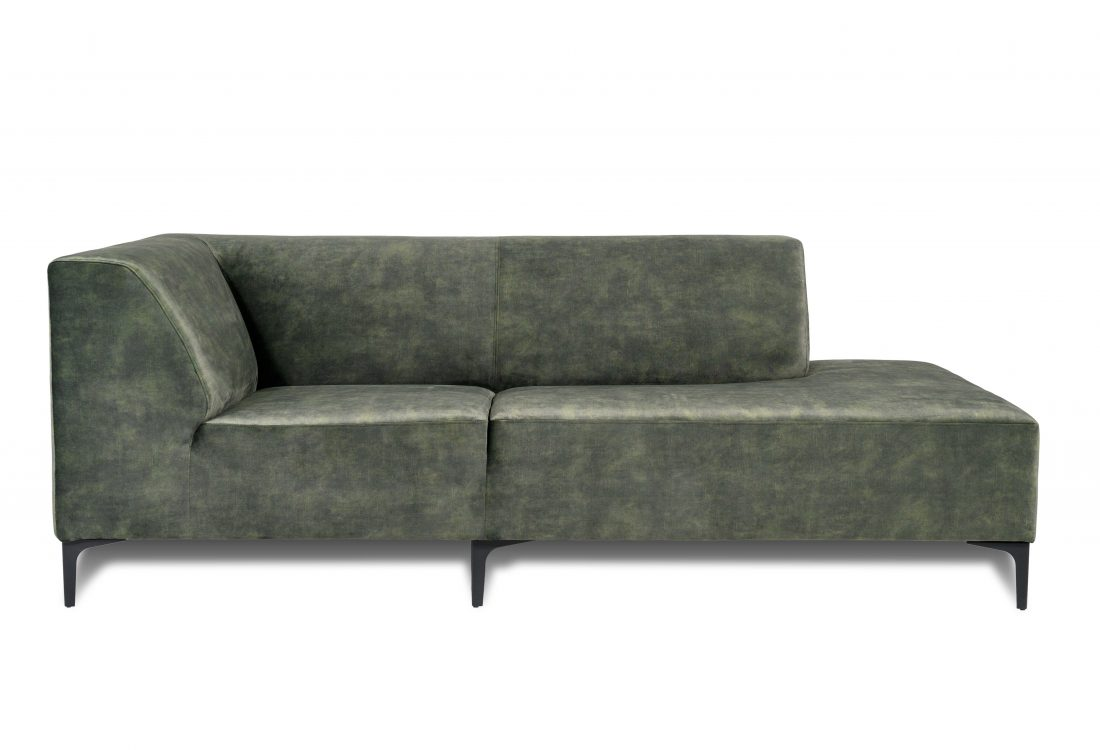 DIVA open corner part (full fabric) (VOLVO 17 green) front