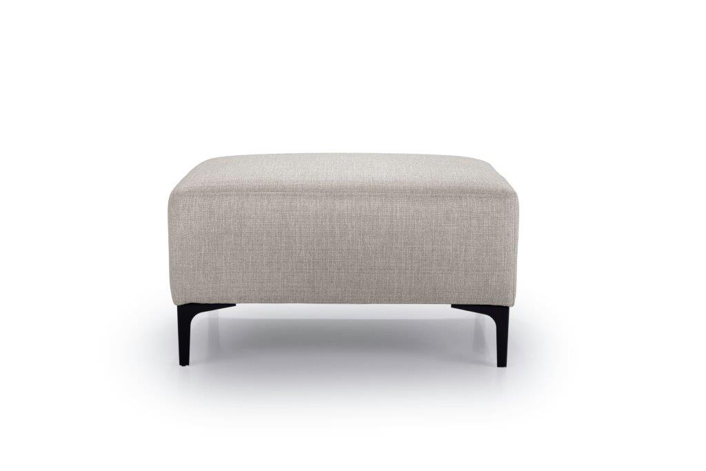 DIVA pouf (NIMES 14 latte) front softnord soft nord scandinavian style furniture modern interior design sofa bed chair pouf upholstery