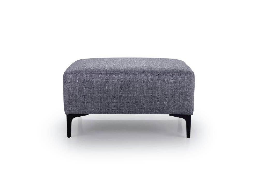 DIVA pouf (NIMES 22 silver) front softnord soft nord scandinavian style furniture modern interior design sofa bed chair pouf upholstery