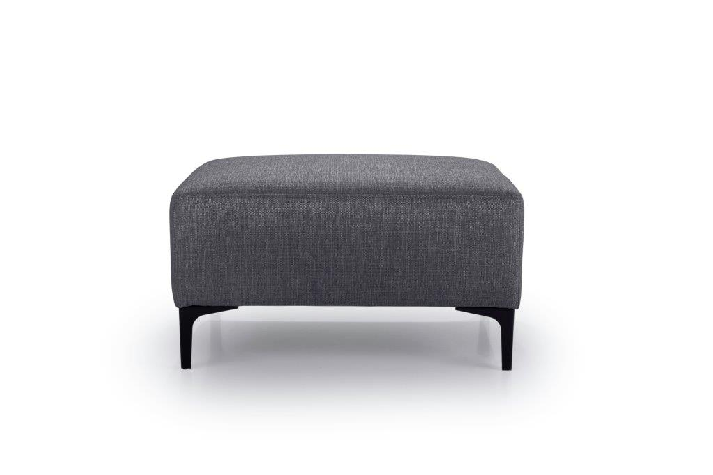 DIVA pouf (NIMES 7 antrazite) front softnord soft nord scandinavian style furniture modern interior design sofa bed chair pouf upholstery